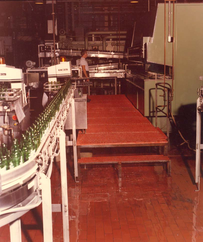 GRP Moulded Grating Platforms in Bottling Factory