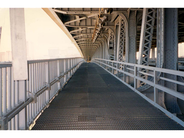 Glass Reinforced Plastic Pultruded Grating on Veterans Memorial Bridge Transportation Market